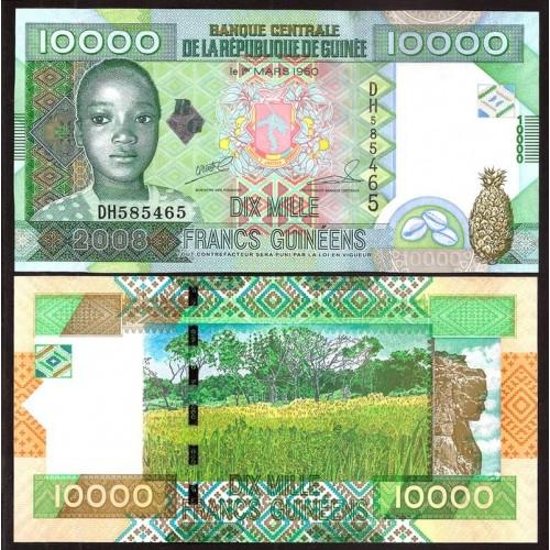 GUINEA 10.000 Francs 2008