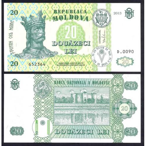 MOLDOVA 20 Lei 2013