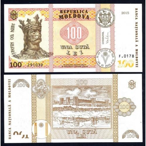 MOLDOVA 100 Lei 2015