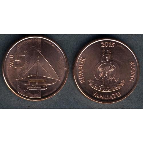 VANUATU 5 Vatu 2015