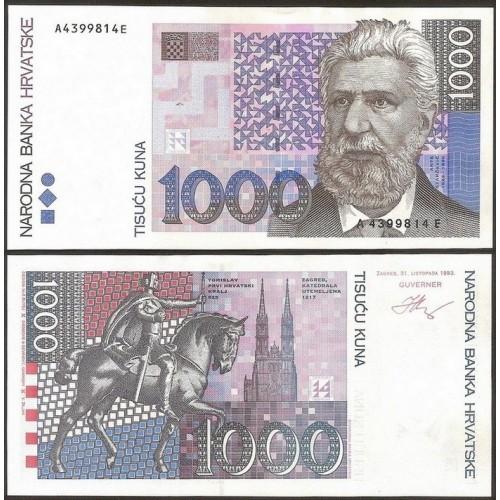 CROATIA 1000 Kuna 1993
