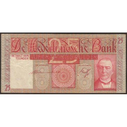NETHERLANDS 25 Gulden 1938