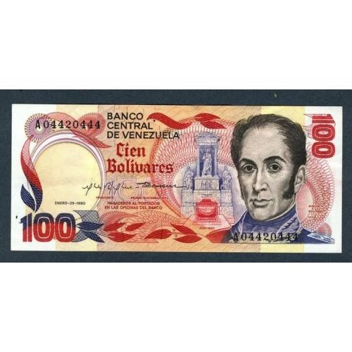 VENEZUELA 100 Bolivares 1981