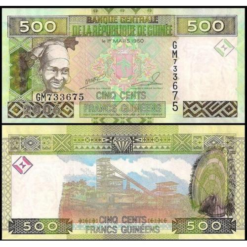 GUINEA 500 Francs 2006