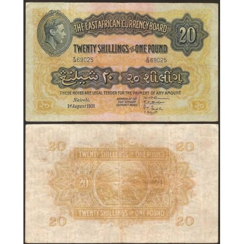 EAST AFRICA 20 Shillings -...