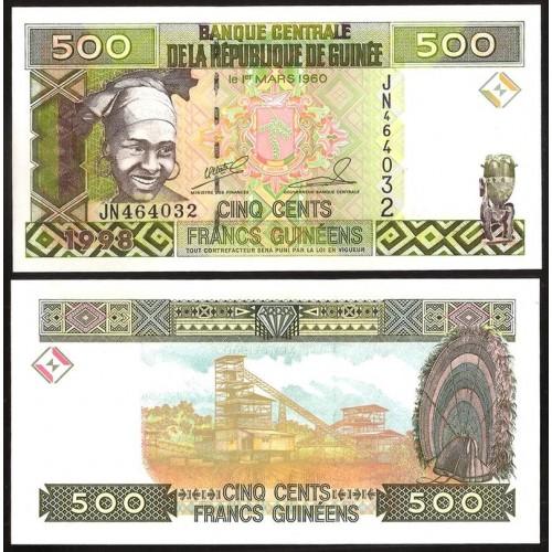 GUINEA 500 Francs 1998