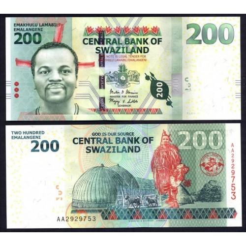 SWAZILAND 200 Emalangeni 2014