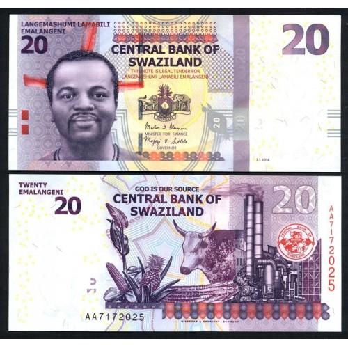SWAZILAND 20 Emalangeni 2014