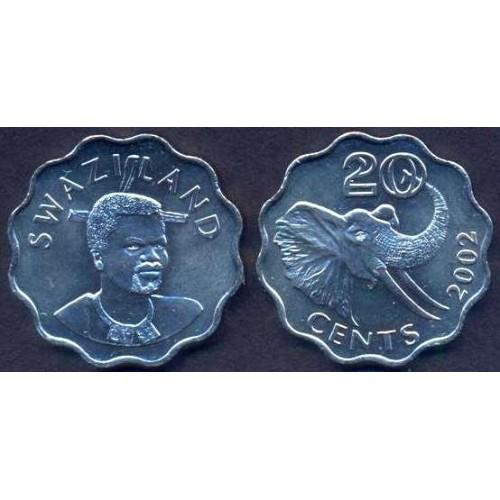 SWAZILAND 20 Cents 2002