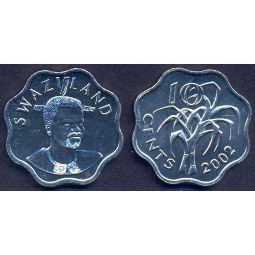 SWAZILAND 10 Cents 2002