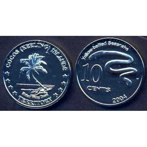 COCOS ISLANDS 10 Cents 2004