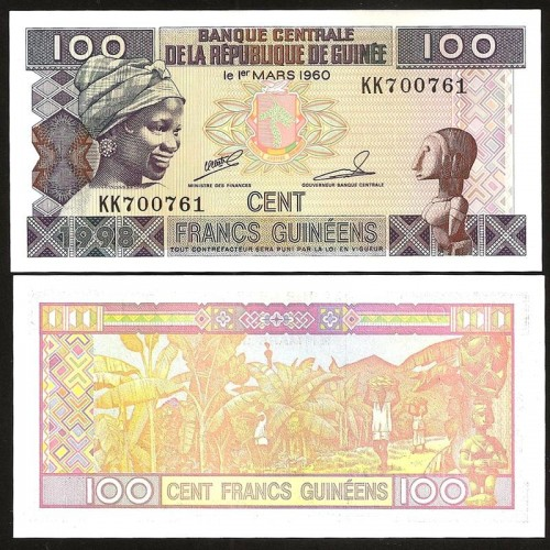 GUINEA 100 Francs 1998