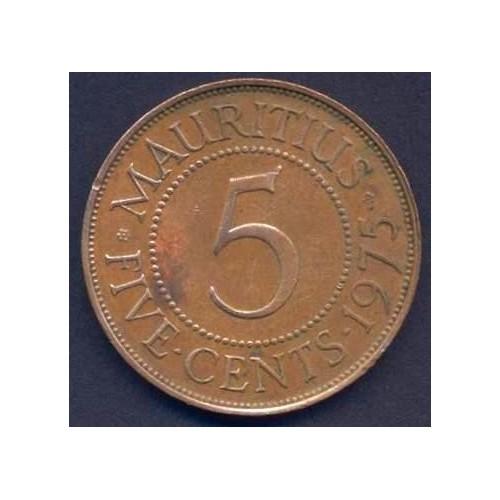 MAURITIUS 5 Cents 1975