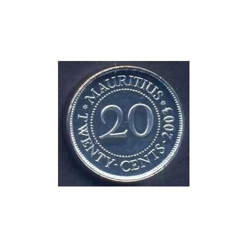 MAURITIUS 20 Cents 2003