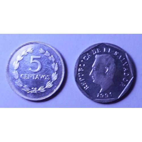 EL SALVADOR 5 Centavos 1991