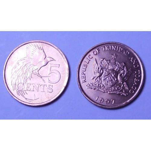 TRINIDAD & TOBAGO 5 Cents 1997