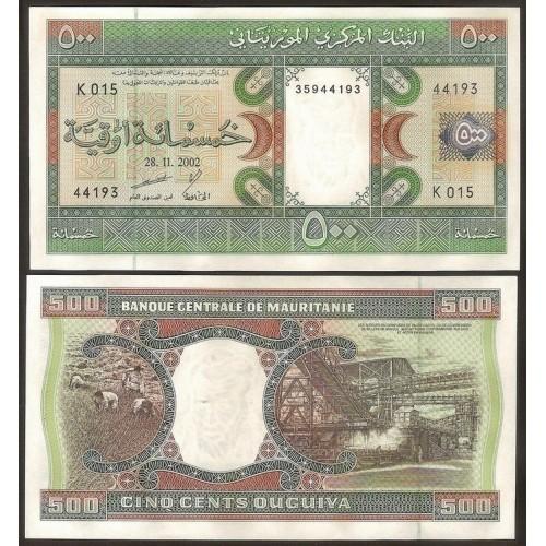 MAURITANIA 500 Ouguiya 2002