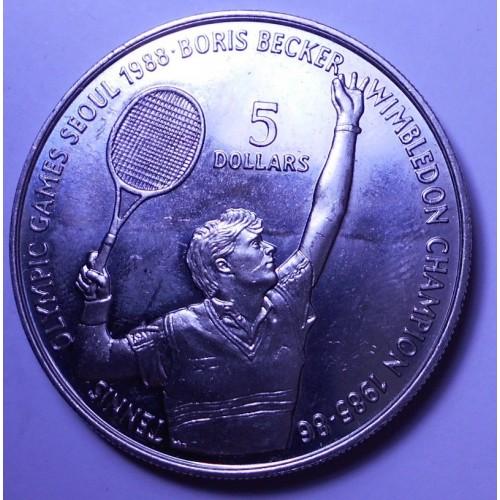 NIUE 5 Dollars 1987 Boris...