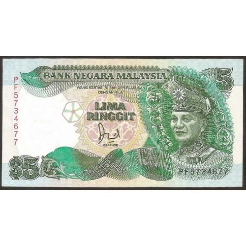 MALAYSIA 5 Ringgit 1991
