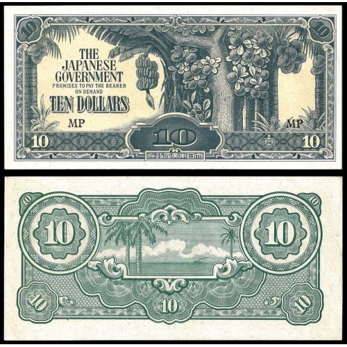 MALAYA 10 Dollars 1942