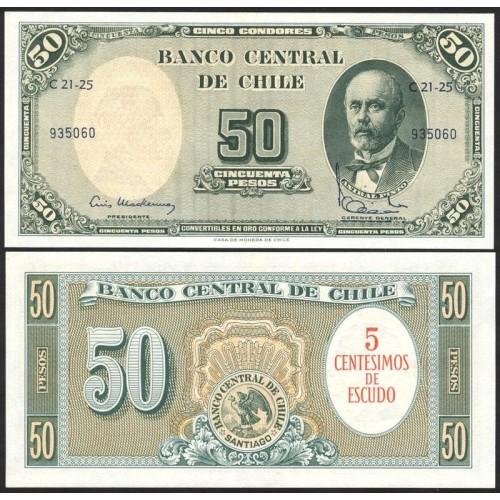 CHILE 5 Centesimos on 50...