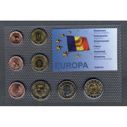 ANDORRA Set coins 2006 Euro...