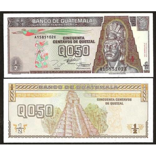 GUATEMALA 1/2 Quetzal 1994