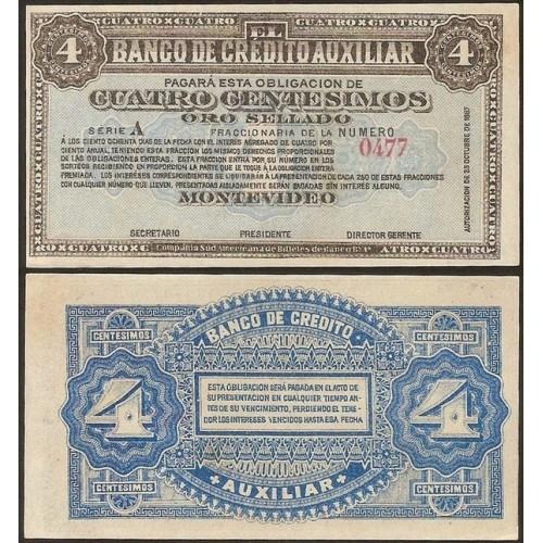 URUGUAY 4 Centesimos 1887