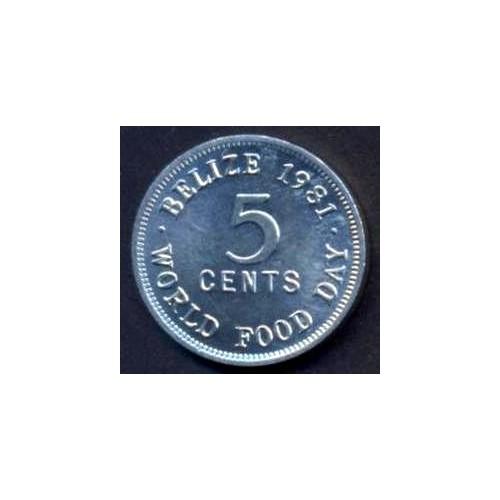 BELIZE 5 Cents 1981 World...