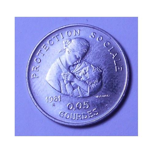 HAITI 5 Centimes 1981 FAO