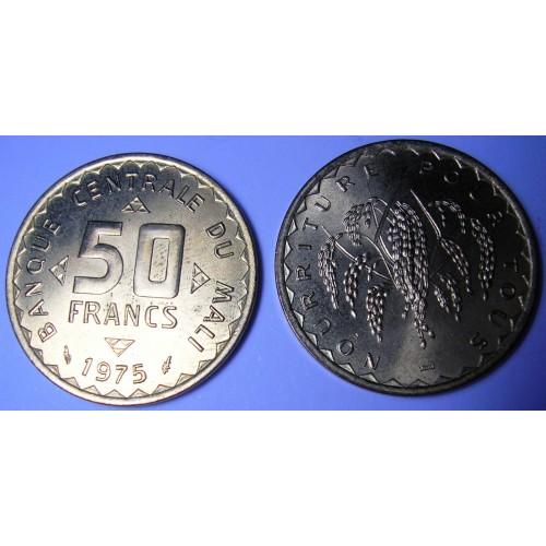 MALI 50 Francs 1975 FAO