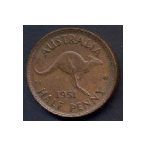 AUSTRALIA 1/2 Penny 1951...