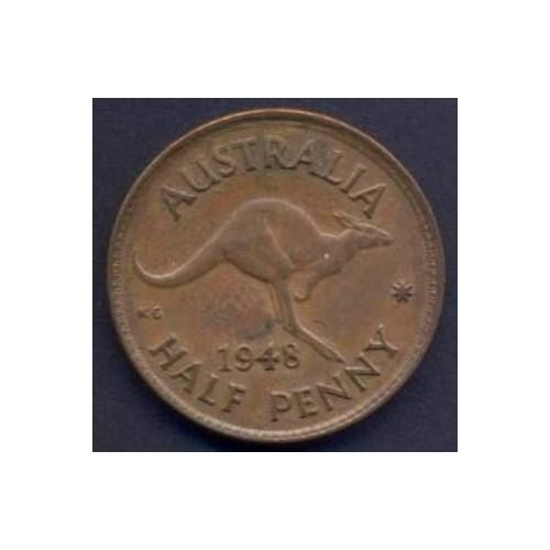 AUSTRALIA 1/2 Penny 1948 (m)