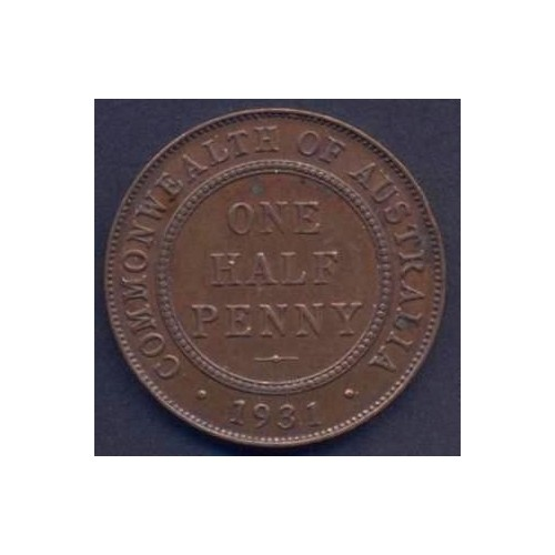 AUSTRALIA 1/2 Penny 1931