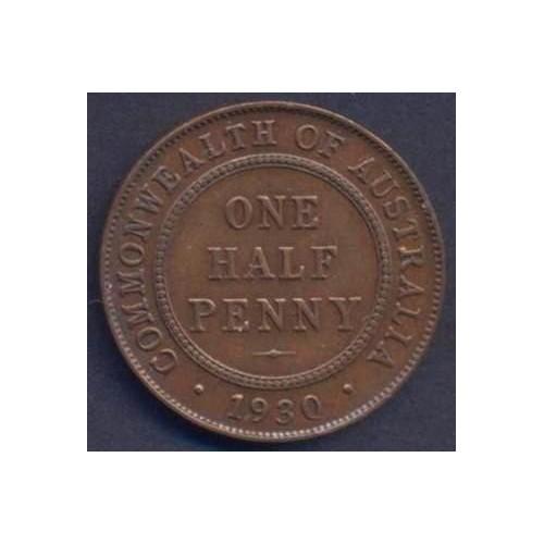 AUSTRALIA 1/2 Penny 1930