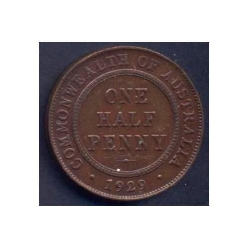 AUSTRALIA 1/2 Penny 1929
