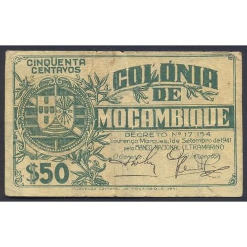 MOZAMBIQUE 50 Centavos 1941