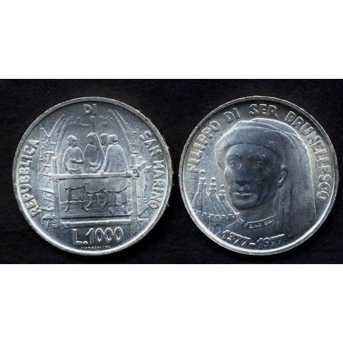 SAN MARINO 1000 Lire 1977...