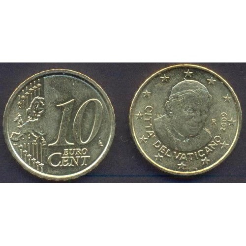 VATICANO 10 Euro Cent 2009