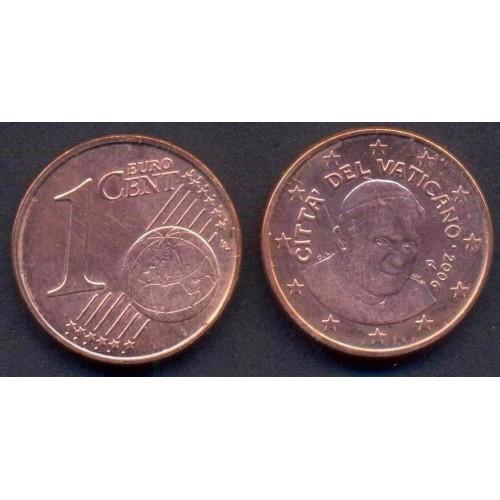 VATICANO 1 Euro Cent 2006