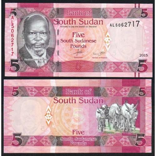 SOUTH SUDAN 5 Pounds 2015