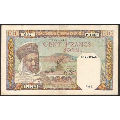 ALGERIA 100 Francs 15.09.1942