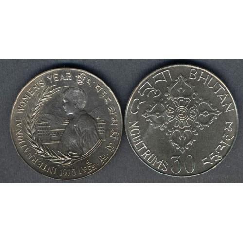 BHUTAN 30 Ngultrums 1975...