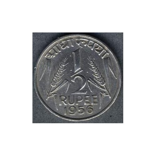 INDIA 1/2 Rupee 1956 (c)