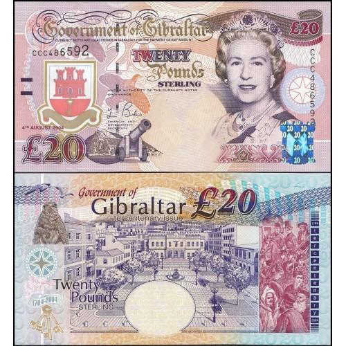 GIBRALTAR 20 Pounds 2004...