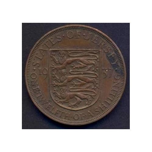 JERSEY 1/12 Shilling 1937