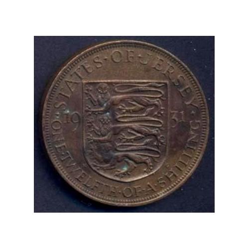 JERSEY 1/12 Shilling 1931