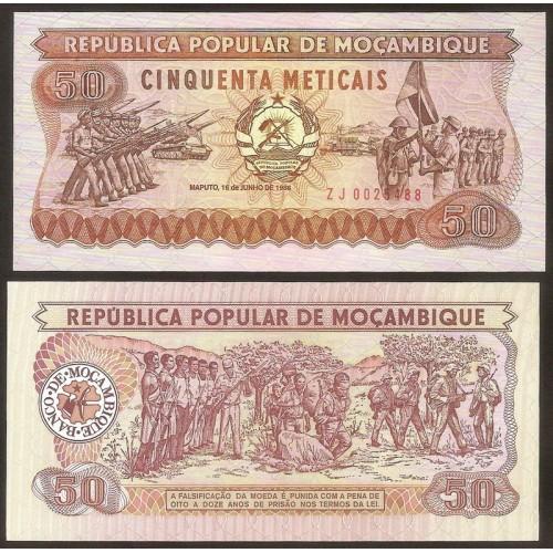 MOZAMBIQUE 50 Meticais 1986...