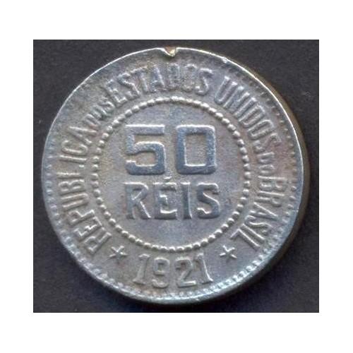 BRAZIL 50 Reis 1921