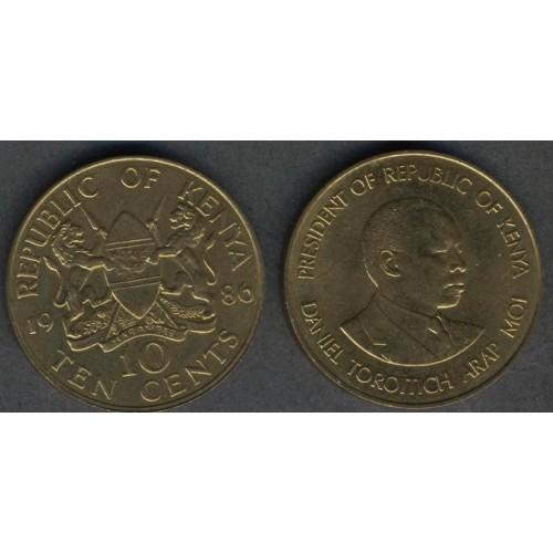 KENYA 10 Cents 1986